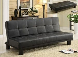 Leather sofa bed sleeper couch futon for Sale in Fontana, CA