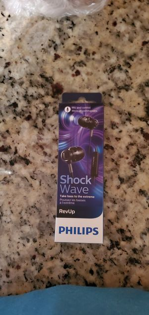 Philips shockwave headphones (New) for Sale in Deltona, FL