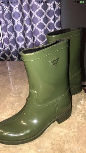 Olive Prada Rain Boots size Euro 39 for Sale in Alsip, IL