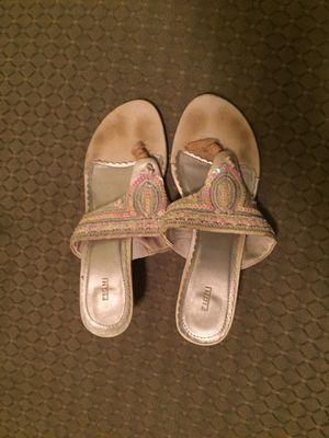 White sequin sandals for Sale in Alexandria, VA