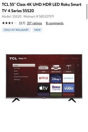 TCL 55 inch Roku UHD TV for Sale in Philadelphia, PA