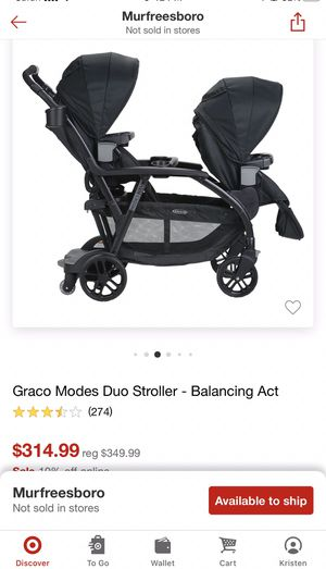 Graco Duo modes - double stroller for Sale in Murfreesboro, TN