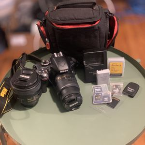 Nikon D3300 w/ Extra Lens & Accessories for Sale in Oakland, CA