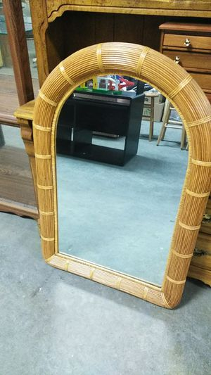 Large wicker wall mirror for Sale in Brook Park, OH