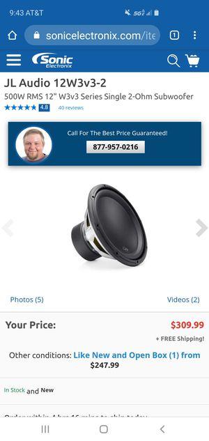 Jl audio 12w3 (read description) for Sale in Chicago, IL