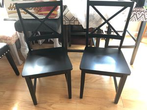 New Ladderback Wooden Chairs (set of 2) for Sale in Sacramento, CA