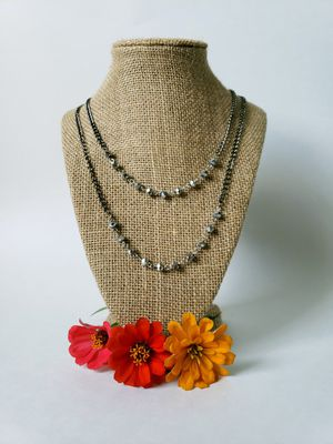 Gunmetal Chain and Rosary Necklace for Sale in Centreville, VA