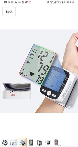 Factory Sealed Wrist Blood Pressure Monitor Tonometer LCD Digital Display Automatic for Sale in Sacramento, CA