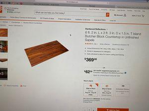 Half Price!!! Butcher Block Countertop for Kitchen islands!!! $184.50 for Sale in Houston, TX