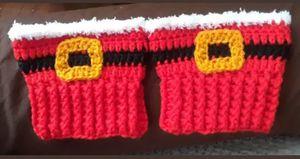 New Crochet Santa Boot Topper Cuffs w/ Crochet Buckle for Sale in Providence, RI