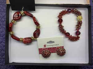 2 bracelets and earrings from charming Charlie for Sale in Grand Prairie, TX