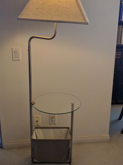 Lamp With Glass Table And Magazine Rack for Sale in Los Angeles,  CA