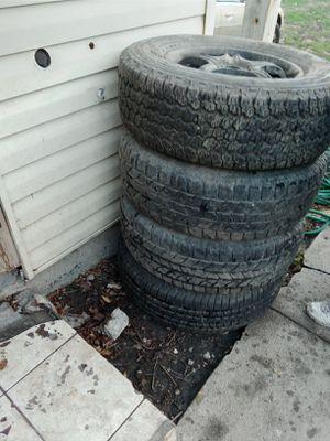 2 yokohama Tires 2 goodyear wrangler Tires Size 255/70r17 with Rim for Sale in Mount Prospect, IL