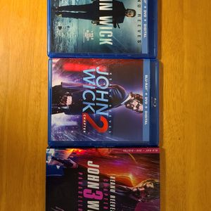 John Wick Triology Part 1 2 And 3 BLURAY + DVD for Sale in Westborough, MA