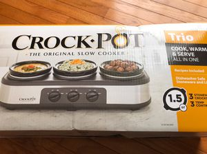 Crock Pot Trio Slow Cooker Food Warmer for Sale in Bethesda, MD