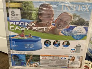 """Intex 8x30"""" Easy Set Inflatable Swimming Pool with Filter Pump for Sale in Chicago, IL"""