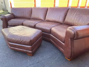 Havertys top grain leather sectional for Sale in Atlanta, GA