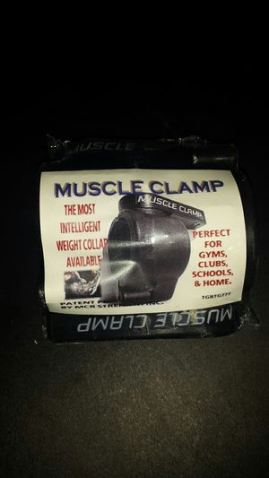 muscle clamp barbell collars pair for Sale in Tempe, AZ