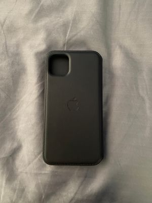 Black Apple Leather Folio Case IPhone 11 Pro Max for Sale in Overton, TX