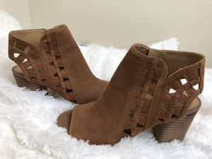 Franco Sarto genuine leather open toe booties for Sale in Austin, TX
