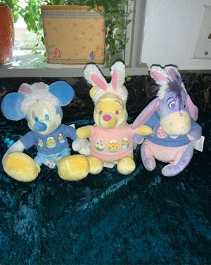 "Vintage DISNEY ""Plush MICKEY MOUSE, EEYORE & WINNIE THE POOH With Bunny Ears"" for Sale in Beaverton, OR"