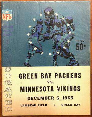 Green Bay Packers vs. Minnesota Vikings December 5, 1965 NFL Illustrated Game Day Program for Sale in Appleton, WI