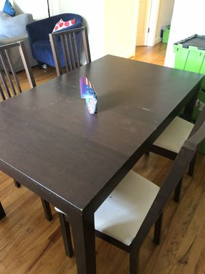 PRICE CUT! IKEA table and 4 chair set for Sale in Washington, DC