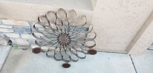Wrought iron candle holder flower pattern for Sale in Mesa, AZ