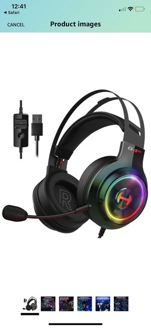 Edifier G4 TE Gaming Headset for PC, PS4, 7.1 Surround Sound Gaming Headphones with Noise Canceling Microphone, USB Over-Ear Headphone Wired with RGB for Sale in Homestead, FL
