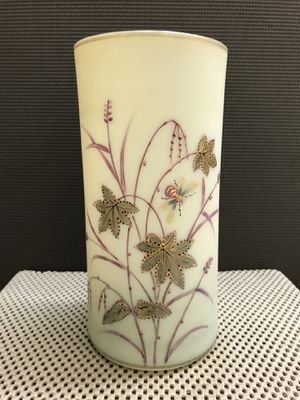 Antique Hand Painted Floral Art Glass Vase for Sale in Kennesaw, GA