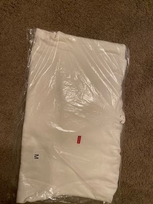 Supreme Small Box Hooded Sweatshirt-White for Sale in New Lenox, IL