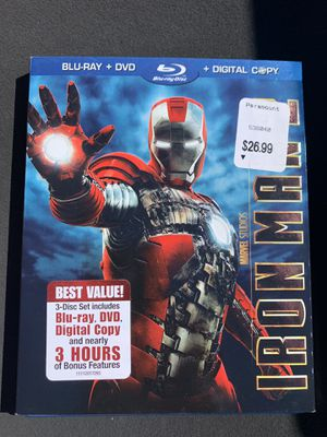 Iron man Blu-Ray DVD for Sale in Fairfield, CA
