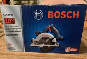 "BOSCH 18v 6 1/2"" circular saw NIB for Sale in Cape Coral, FL"
