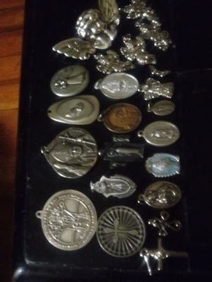 Lot of angels and catholic medalions religious items for Sale in Kent, WA