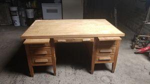 Nice old oak desk- very solid! for Sale in Brush Prairie, WA