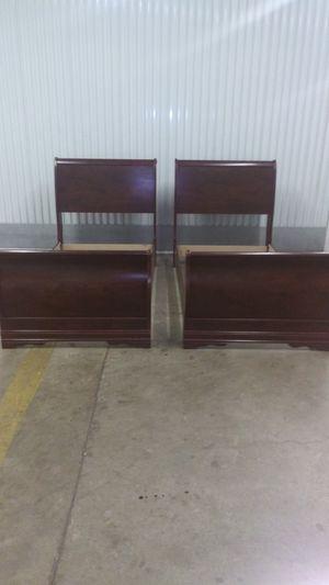 Dark Wood Twin Sleigh Beds for Sale in Decatur, GA