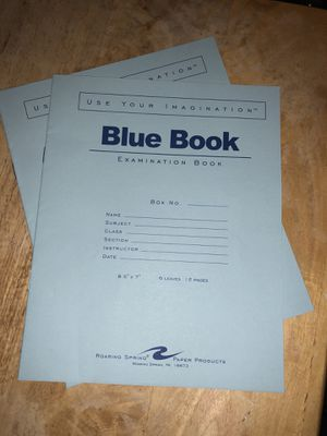 2 Blue Exam books for college for Sale in East Wenatchee, WA