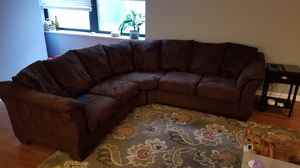 Brown 2 piece sectional for Sale in Chicago, IL