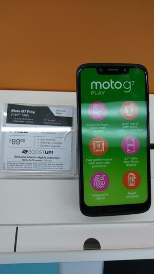 MOTO G7! FREE WHEN YOU SWITCH! COME SEE US AT BOOST MOBILE ON 50TH AND AVE L! for Sale in Lubbock, TX