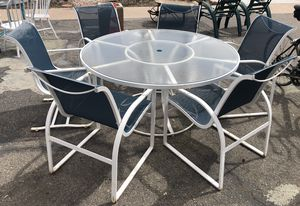 Vintage Mid-Century Woodard Patio Table w/6 Chairs for Sale in Denver, CO