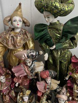 Vintage Harlequin Gesture Porcelain Dolls for Sale in Los Angeles,  CA