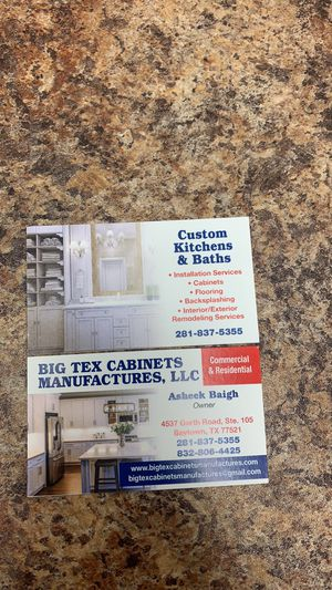 Pvc kitchen cabinets out doors and inside for Sale in Baytown, TX