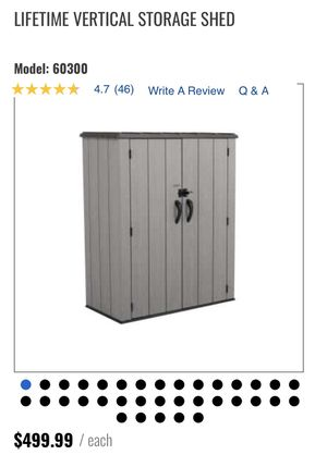 Lifetime Vertical Storage Shed for Sale in Miami, FL