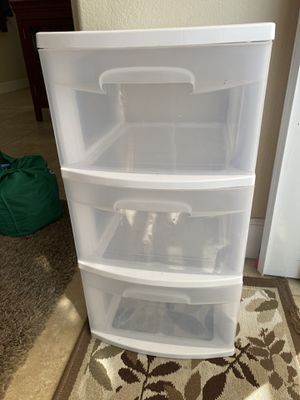 Three drawer plastic container for Sale in Aliso Viejo, CA