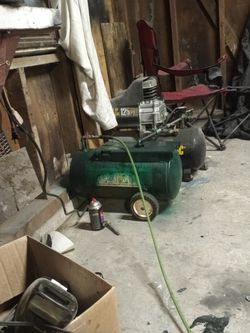 Air Compressor With Added Holding Tank Hoses N All Air Drill Air Sander for Sale in Lititz,  PA