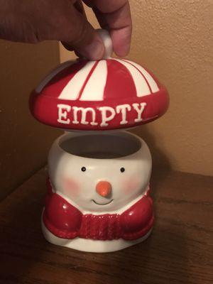Snowman man cookie jar for Sale in Sanford, FL