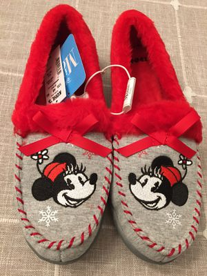 NEW! Women's Minnie Mouse slippers size 7/8 for Sale in Plainfield, IL