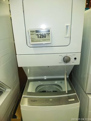 Washer and dryer combo works Good 1yr warranty free delivery for Sale in Fort Washington, MD