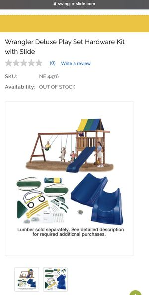 Wrangler Play Set with slide & swings for Sale in San Diego, CA