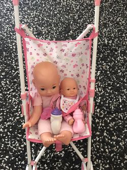 Girl Toys Doll Stroller And 2 Baby Dolls for Sale in Los Angeles,  CA